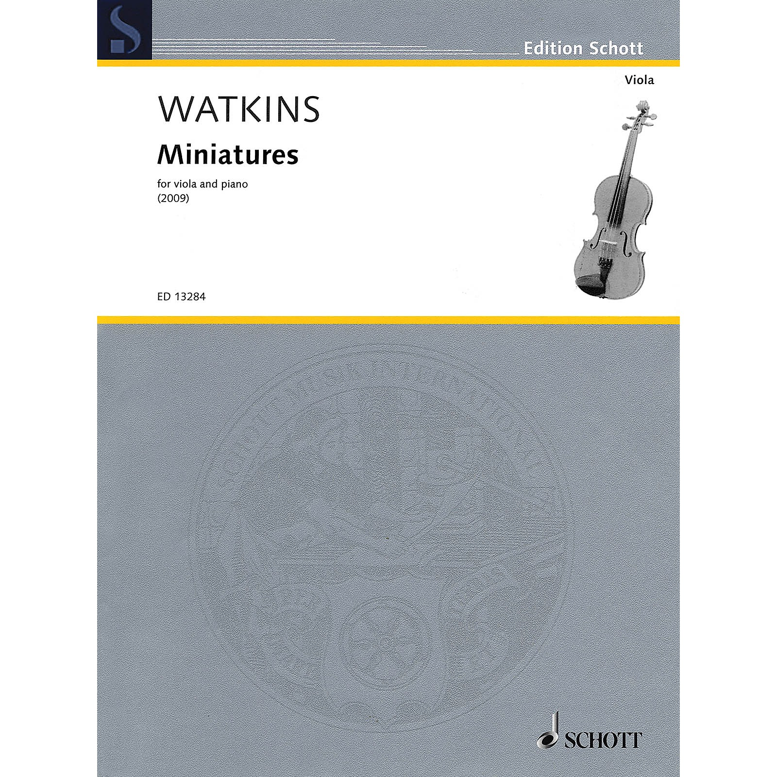 Schott Miniatures (Viola and Piano) Schott Series Softcover Composed by Huw Watkins