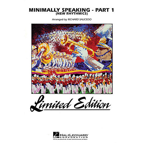 Hal Leonard Minimally Speaking - Part 1 (Newrhythmics) Marching Band Level 4-5 Arranged by Michael McIntosh