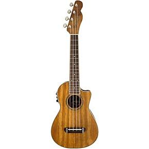 fender mino 39 aka koa cutaway concert acoustic electric ukulele musician 39 s friend. Black Bedroom Furniture Sets. Home Design Ideas