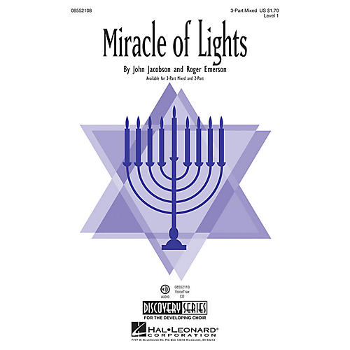 Hal Leonard Miracle of Lights (Discovery Level 1) 2-Part Composed by Roger Emerson