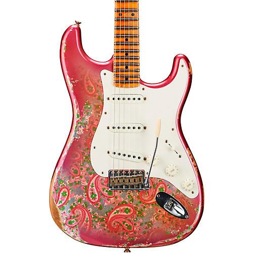 Fender Custom Shop Mischief Maker Heavy Relic Stratocaster Electric Guitar Pink Paisley