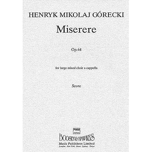 Chester Music Miserere, Op. 44 SSAATTBB Composed by Henryk Mikolaj Górecki
