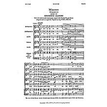 Novello Miserere (Psalm LI) SSATB Composed by Gregorio Allegri Arranged by Ivor Atkins
