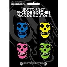 C&D Visionary Misfits Skulls 4-Piece Button Set
