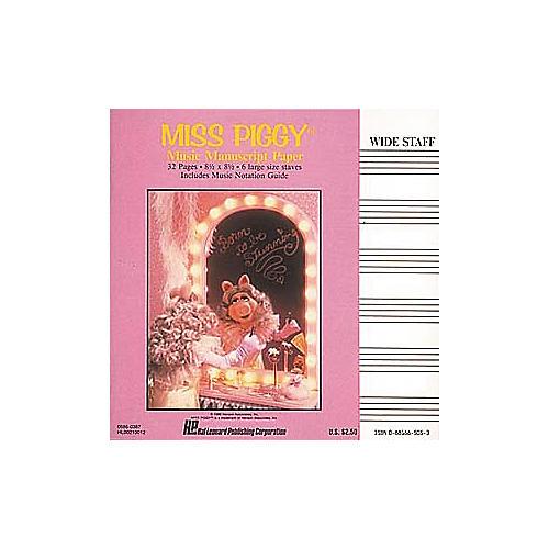 Hal Leonard Miss Piggy Manuscript Paper Book