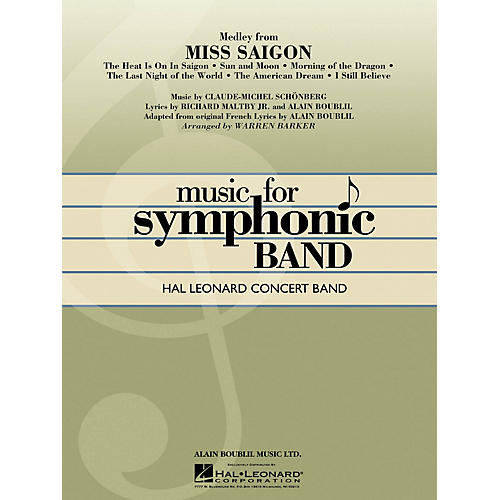 Hal Leonard Miss Saigon, Medley From Full Score Concert Band