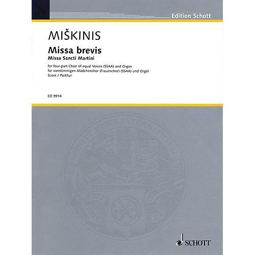 Schott Missa Brevis (Missa Sancti Martini) Composed by Vytautas Miskinis