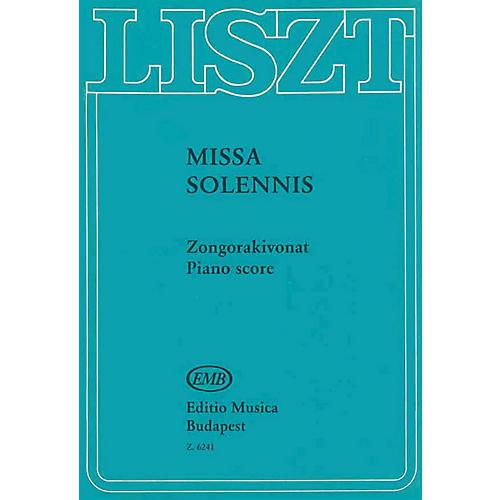 Editio Musica Budapest Missa Solemnis Eszt.-v/s Composed by Franz Liszt