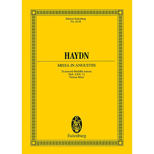 Eulenburg Missa in Angustiis ('Nelson Mass') Study Score Series Softcover Composed by Joseph Haydn