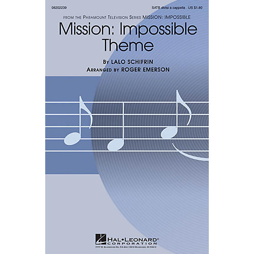 Hal Leonard Mission: Impossible Theme SATB DV A Cappella arranged by Roger Emerson