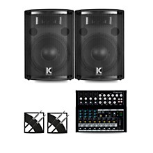 Mix12FX Mixer and Kustom HiPAC Speakers 10