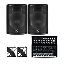 Mix12FX Mixer and Kustom HiPAC Speakers 12