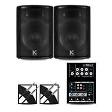 Mix5 Mixer and Kustom HiPAC Speakers 12