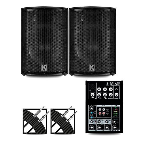 Mackie Mix5 Mixer and Kustom HiPAC Speakers