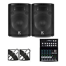Mackie Mix8 Mixer and Kustom HiPAC Speakers