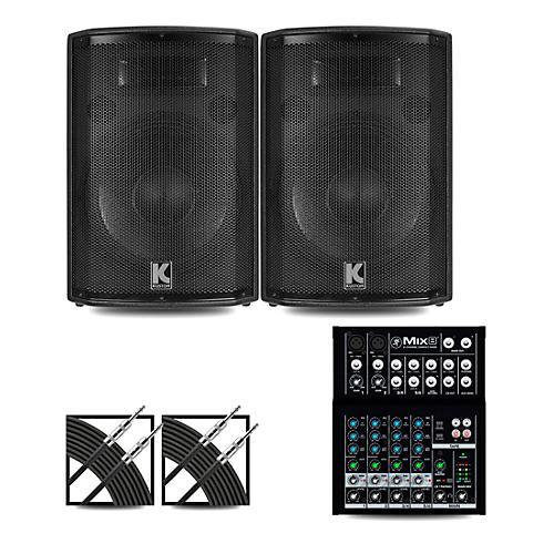 Mackie Mix8 Mixer and Kustom HiPAC Speakers 12