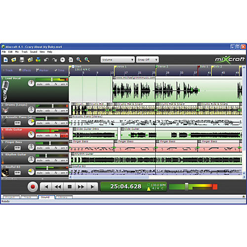 Acoustica Mixcraft 4 Multitrack Audio MIDI Recording Software