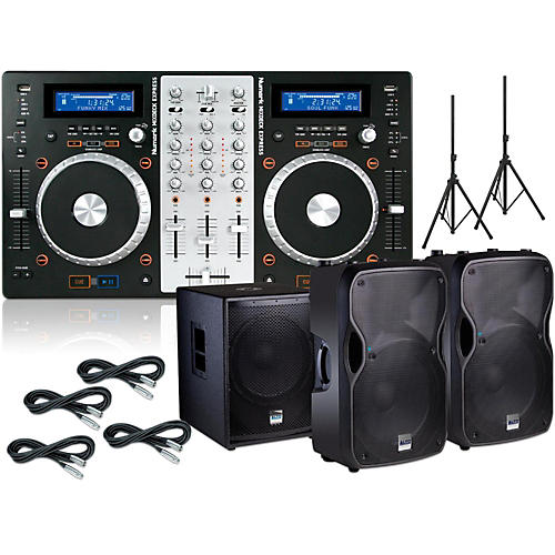Numark Mixdeck Express Bundle with Alto TS112A Speakers