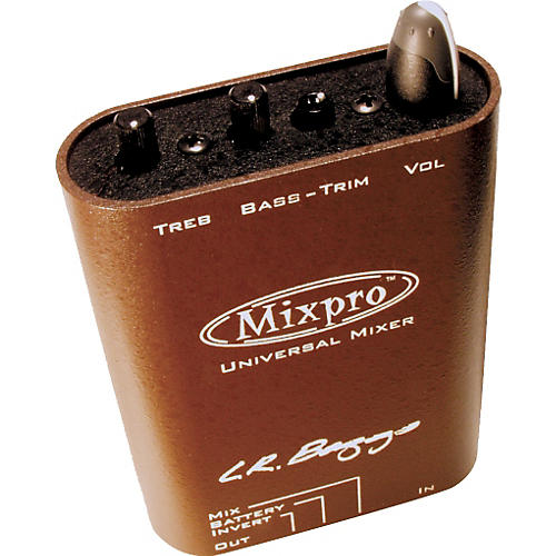 LR Baggs Mixpro Universal Belt Clip Acoustic Guitar Mixer and Preamp
