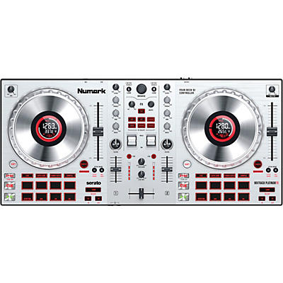 Numark Mixtrack Platinum FX Silver DJ Controller With In-Wheel Display