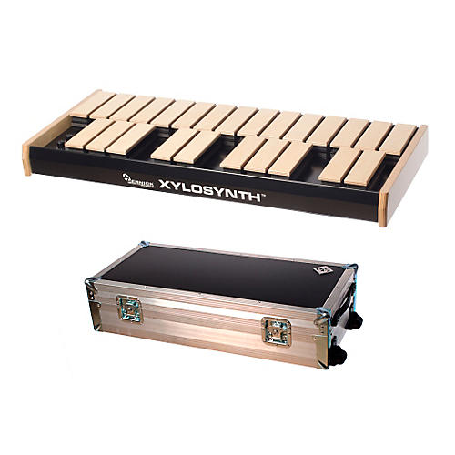 Wernick MkVI Blonde Birch Xylosynth w/LED Display, Flight Case and Accessories