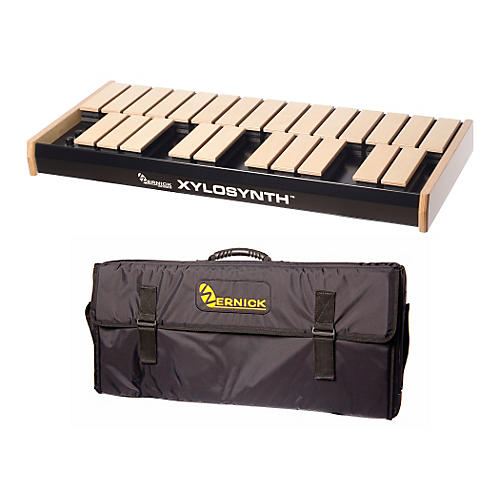 Wernick MkVI Blonde Birch Xylosynth w/LED Display and Soft Bag