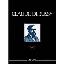Durand Mélodies de 1882 à 1887 Critical Ed Full Score, Hardbound by Debussy Edited by Edmond Lemaître
