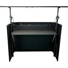 Open Box GLOBAL TRUSS Mobile DJ Table with Black Facade and Crank System Truss