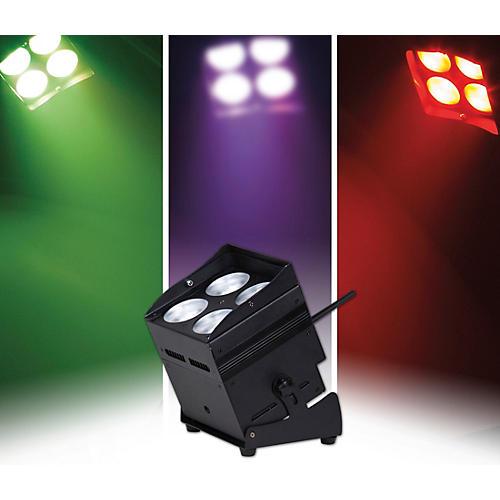ColorKey MobilePar QUAD 4 RGBW LED Cordless, 2.4GHz Wireless PAR Wash Light, Black