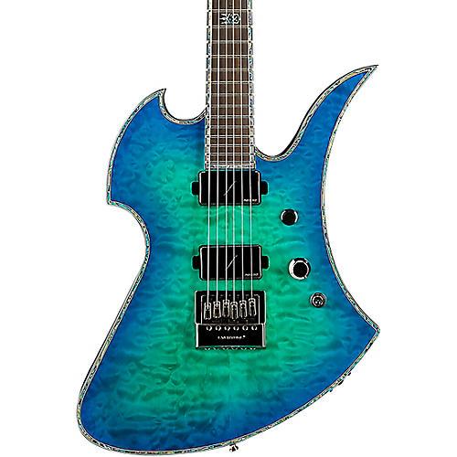 B.C. Rich Mockingbird Extreme Exotic with Evertune Bridge Electric Guitar Cyan Blue