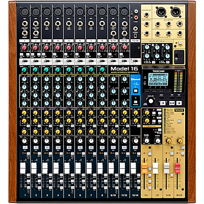 Tascam Model 16 16-Channel Multitrack Recorder With Analog Mixer and USB Interface