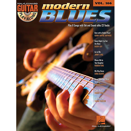 Hal Leonard Modern Blues - Guitar Play-Along Volume 166 Book/CD