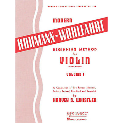 Hal Leonard Modern Hohmann-Wohlfahrt Beginning Method for Violin, Volume 1