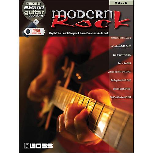 Hal Leonard Modern Rock Guitar Play-Along Volume 5 (Boss eBand Custom Book with USB Stick)