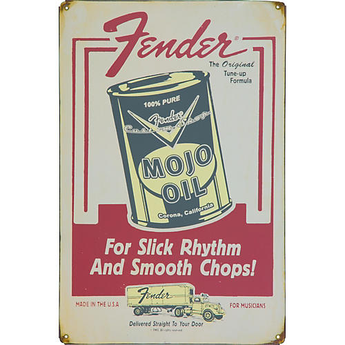 Fender Mojo Oil Antique Sign
