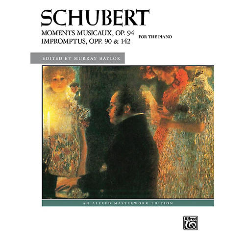 Alfred Moments Musicaux Op 94 & Impromptus Opp 90 & 142 Late Intermediate Early Advanced Combbound Bk