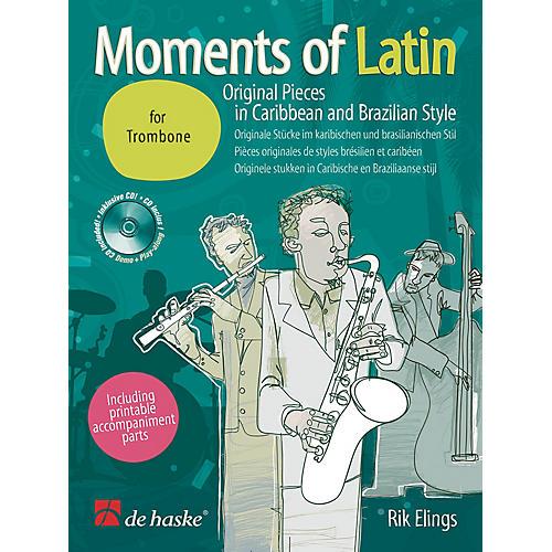 Hal Leonard Moments Of Latin Trombone Bk/cd Original Pieces In Caribbean & Brazilian Concert Band