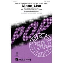 Hal Leonard Mona Lisa TTBB by Nat King Cole Arranged by Ed Lojeski