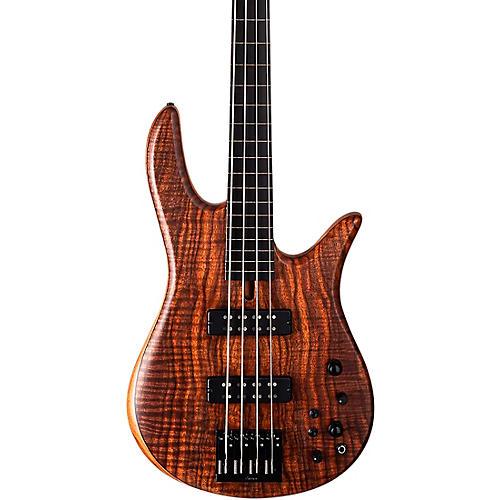 Fodera Guitars Monarch 4 Standard Fretless Electric Bass Clear Satin Finish