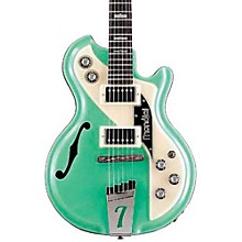 Mondial Classic Semi-Hollow Electric Guitar Green