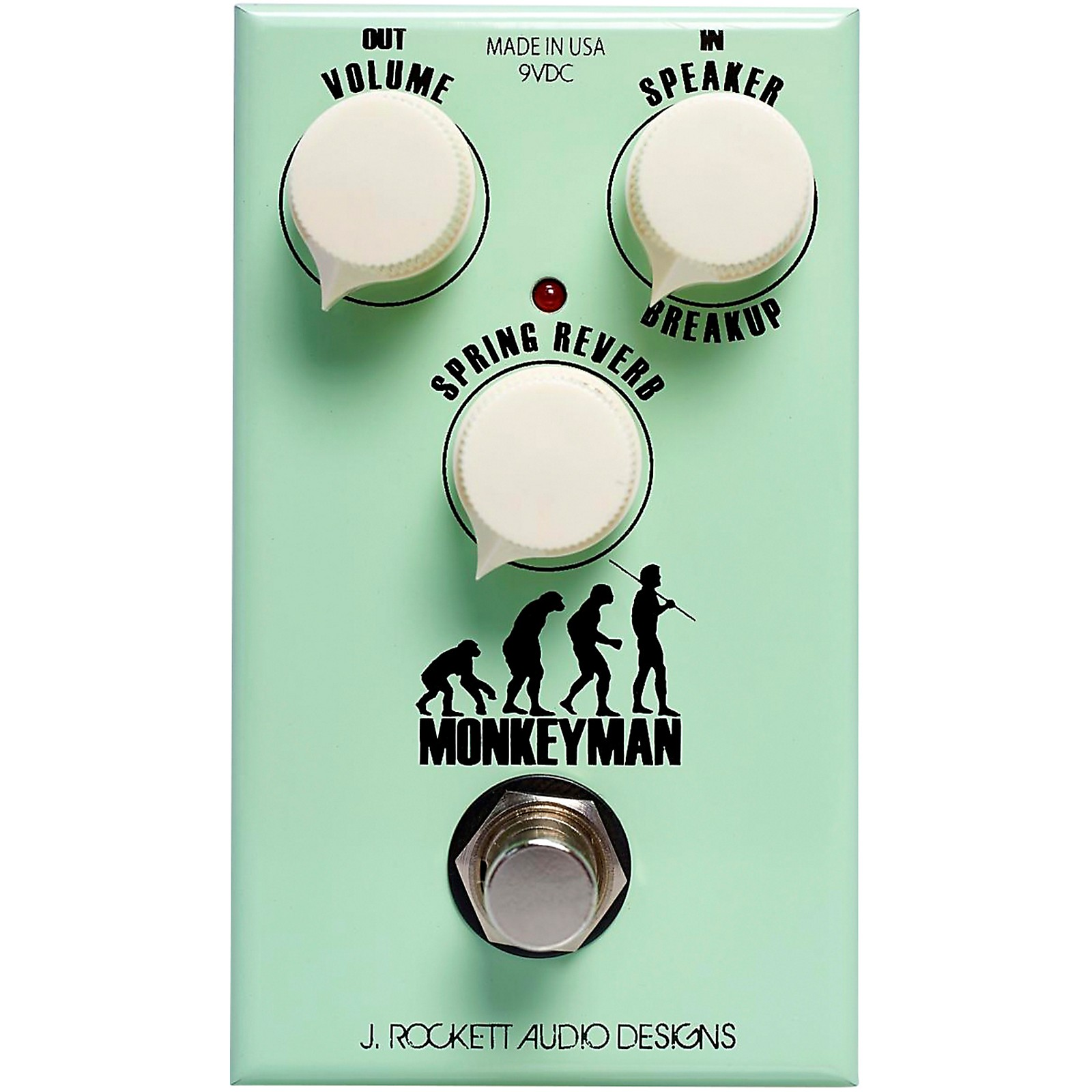 Rockett Pedals Monkeyman Overdrive and Reverb Effects Pedal