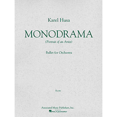 Associated Monodrama (Portrait of an Artist) (Miniature Full Score) Study Score Series Composed by Karel Husa