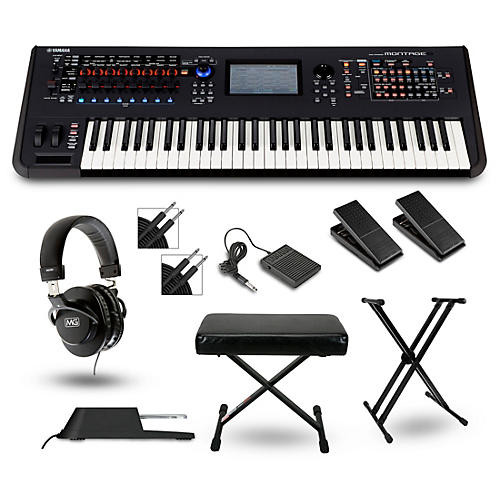 yamaha montage 6 synthesizer package musician 39 s friend. Black Bedroom Furniture Sets. Home Design Ideas
