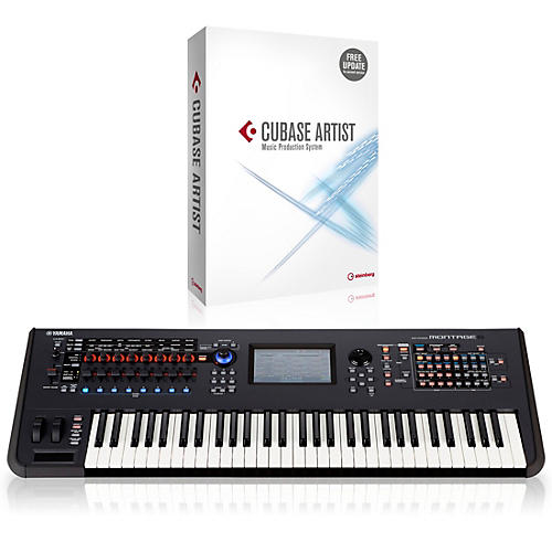 yamaha montage 61 key flagship synthesizer with cubase artist musician 39 s friend. Black Bedroom Furniture Sets. Home Design Ideas