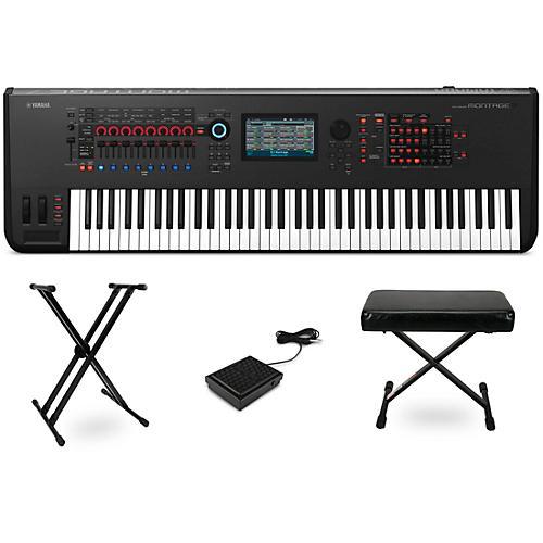 Yamaha Montage 76-Key Synthesizer Essentials Kit Black