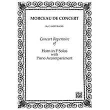 Alfred Morceau de Concert for French Horn By Camille Saint-Sa«ns Book