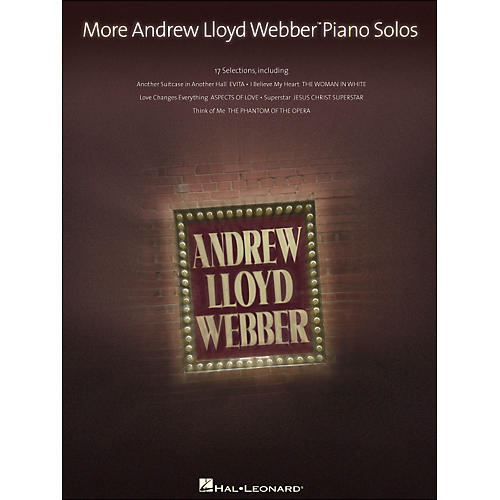 Hal Leonard More Andrew Lloyd Webber Piano Solos