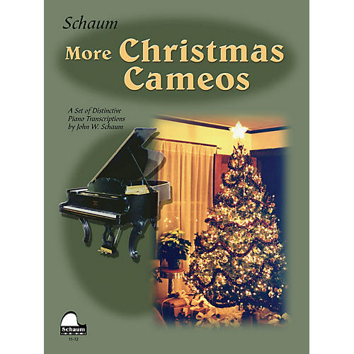 SCHAUM More Christmas Cameos (Level 6 Early Advanced Level) Educational Piano Book