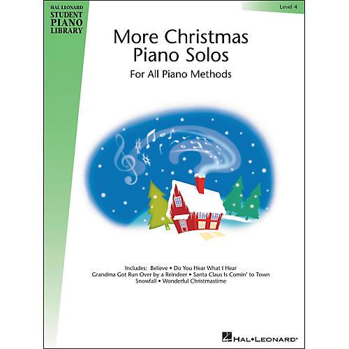 Hal Leonard More Christmas Piano Solos Book 4 Hal Leonard Student Piano Library