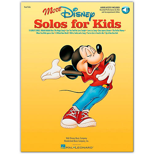Hal Leonard More Disney Solos for Kids (Book/Online Audio)